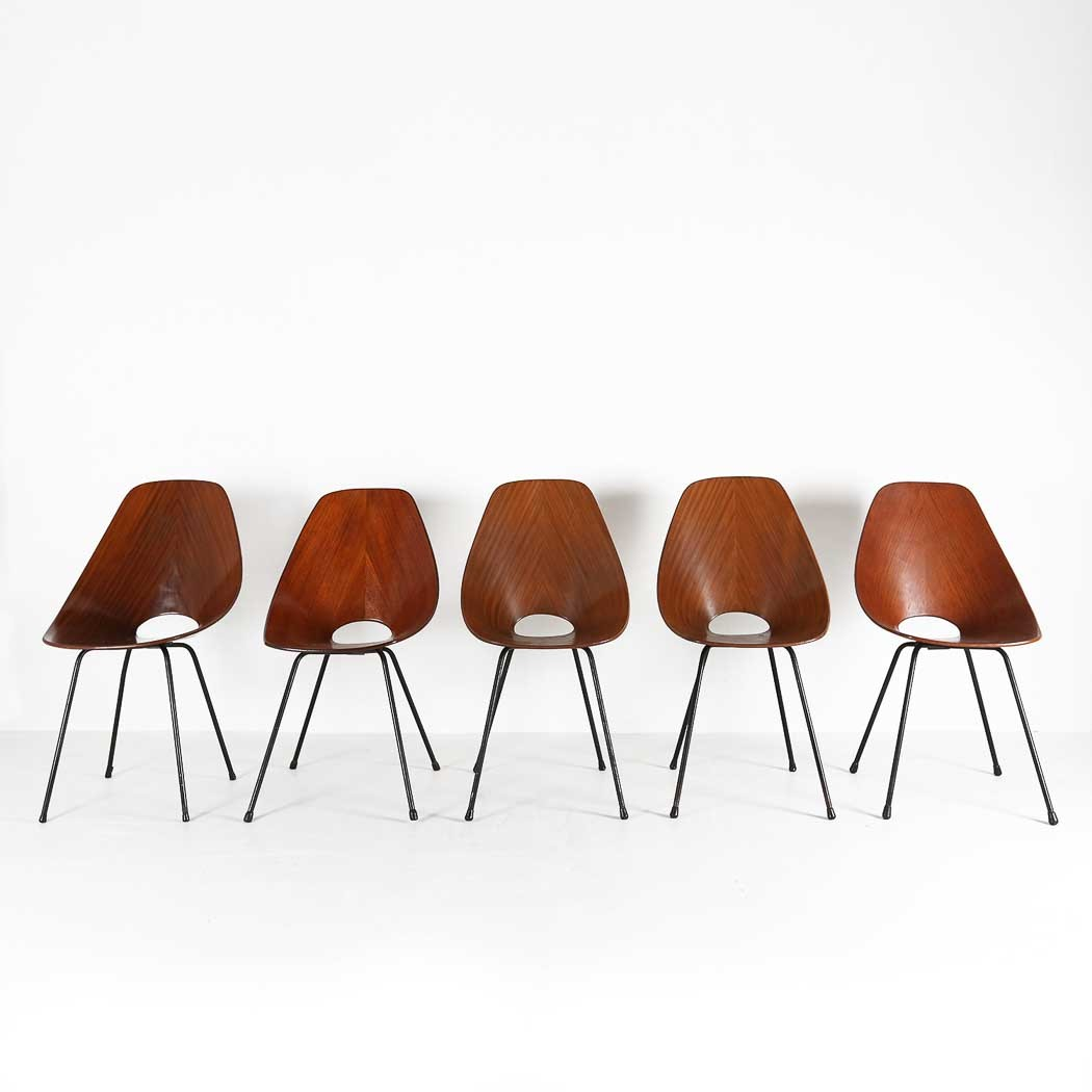 SET OF FIVE MEDEA CHAIRS BY VITTORIO NOBILIthumbnail