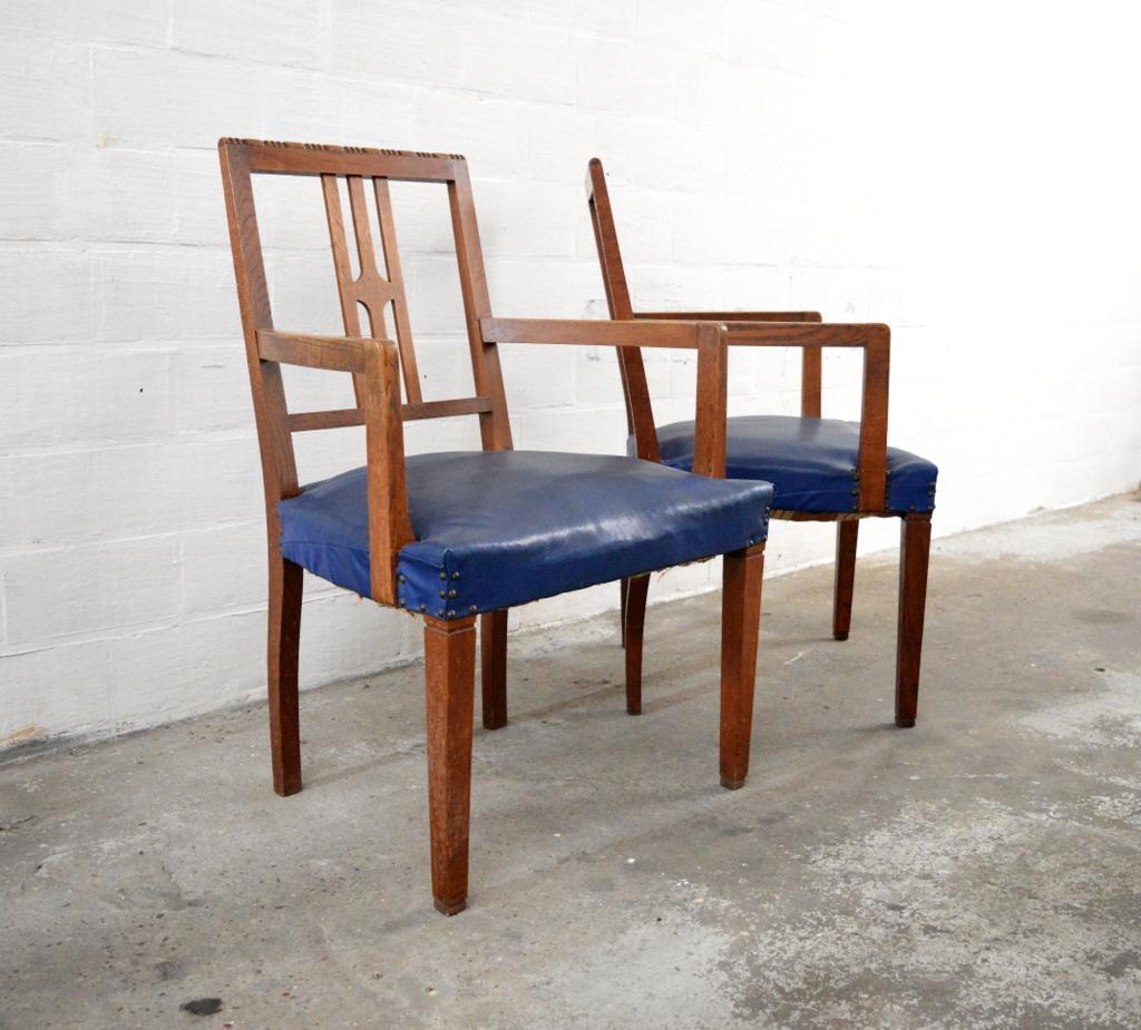 Art Deco Kuipstoelen.Pair Of Art Deco Chairs Gallery K7