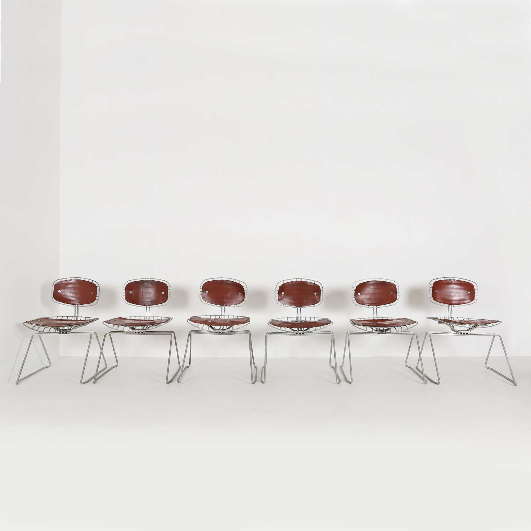 Set of Six Beaubourg Chairs by Michel Cadestin for the Pompidou Centrethumbnail