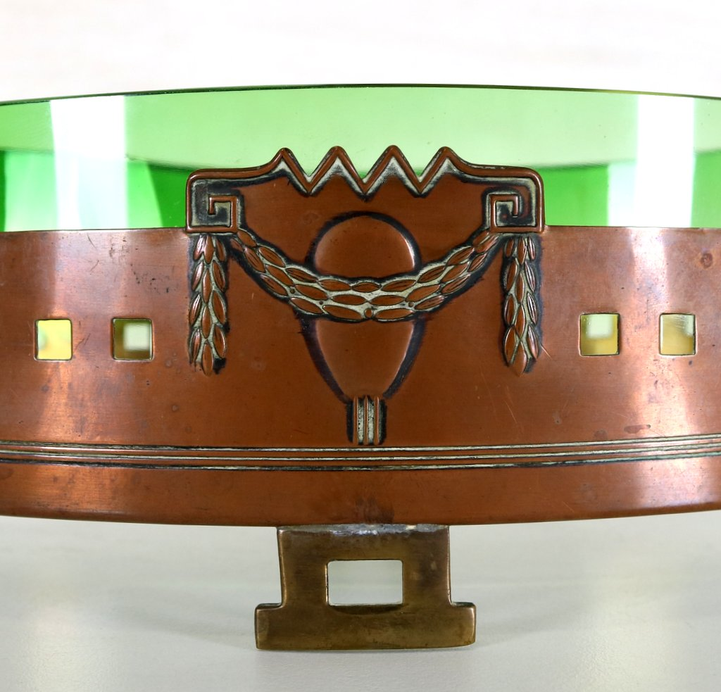 Art Deco fruit bowl attributed to Gustave Serrurier Bovythumbnail