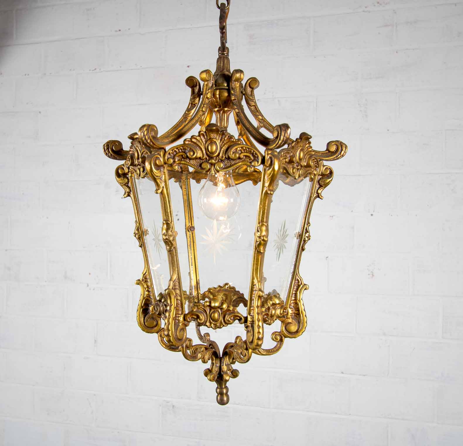 Bronze antique chandelier