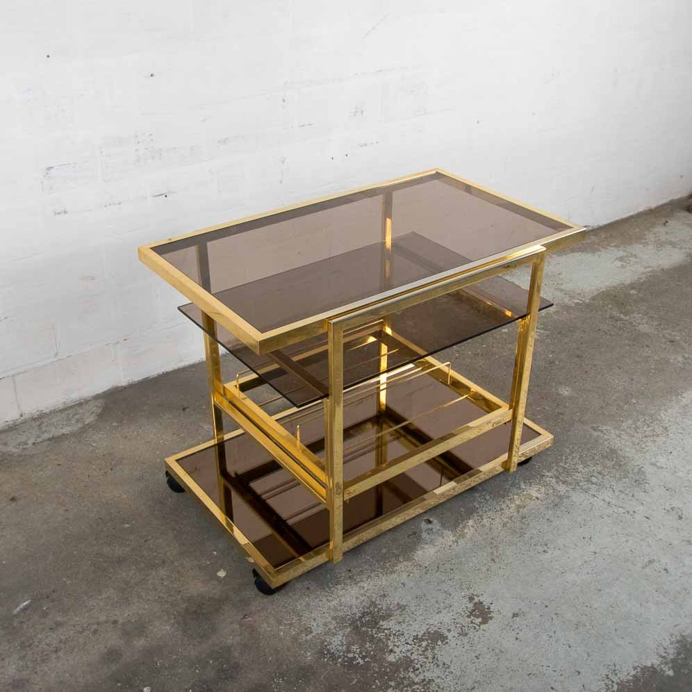 gilded serving trolley