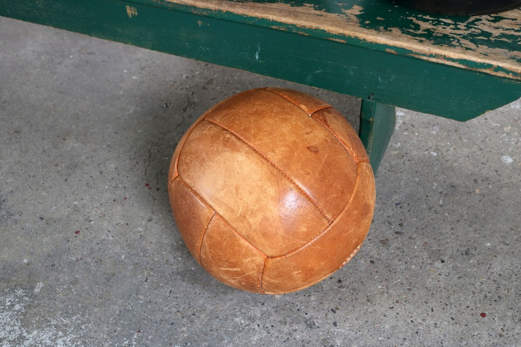 Leather exercise balls